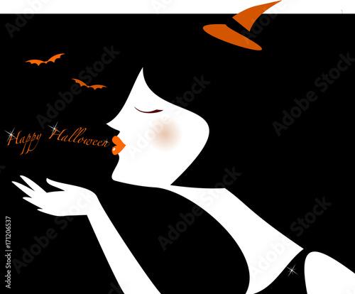 Profilo bianco Halloween Canvas-taulu