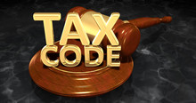 Tax Code Legal Gavel Concept 3...