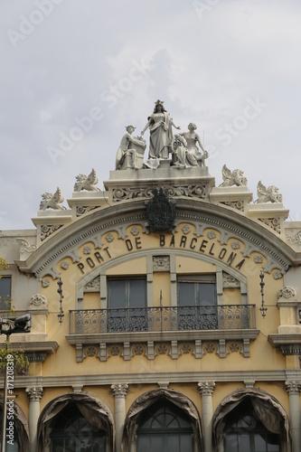 Fotobehang port de barcelone