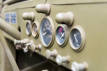 Dashboard Of Military Vehicle