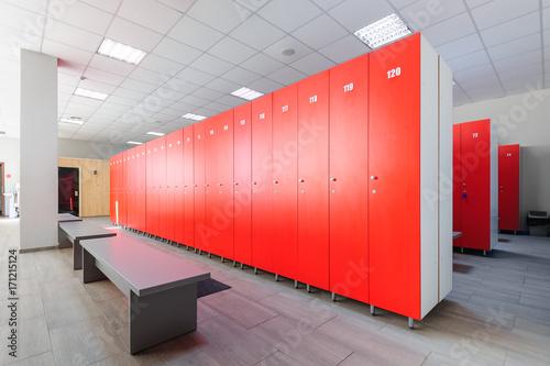 Obraz na plátne Interior of gym locker room
