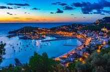 Beautiful Sunset At The Bay Of Port De Soller Majorca Island, Spain