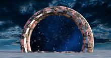 Space Gate  3d Rendering