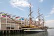 Tall ship docked in Boston MA USA
