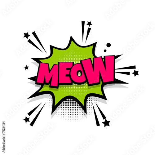Photo Meow cat noise lettering