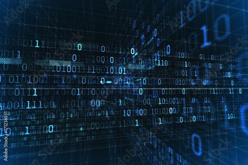 Fotografía  Blockchain Network, Data Stream