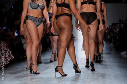 f6d6fd35850 Models walk the runway during the Addition Elle Spring/Summer 2018  presentation at New York Fashion Week in Manhattan, New York.