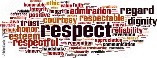 Obraz na plátně  Respect word cloud