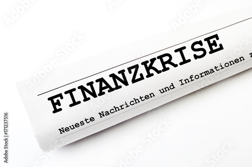 Fotografía  Finanzkrise Zeitung