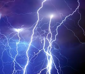 Heavy storm bringing thunder, lightnings and rain