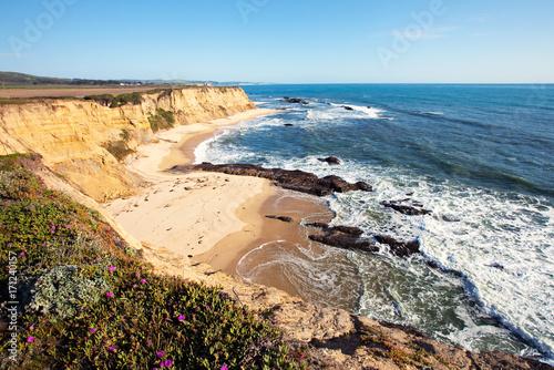 Obraz na plátne San gregorio state beach and pacific ocean cabrillo hwy s half moon bay ca