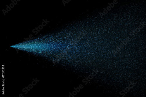 Light neon glitter particles dispersion spray on vector transparent background Canvas Print