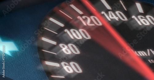 Fotomural Tachometer zeigt Tempo 130