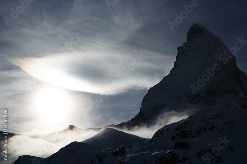 Matterhorn in Switzerland at sunset