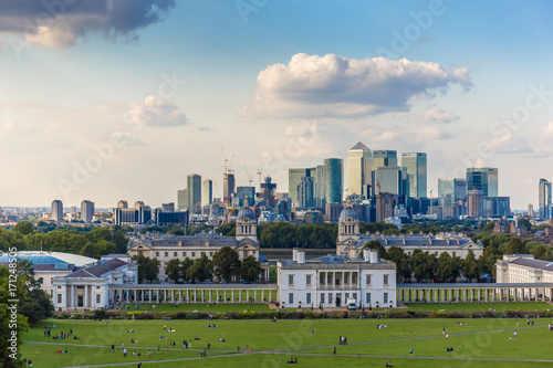 View from Greenwich hill, London Wallpaper Mural
