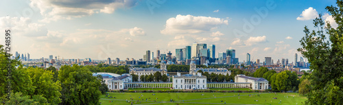 View from Greenwich hill, London Canvas Print