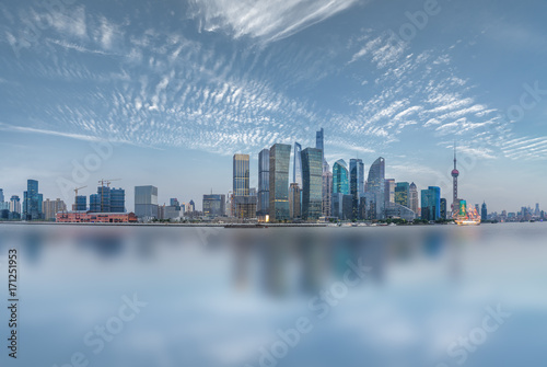 shanghai cityscape and skyline Poster