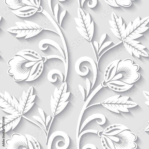 elegant-3d-seamless-floral-pattern-vector-illustration