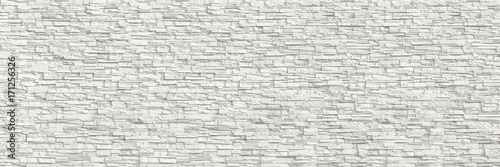 Foto op Aluminium Wand horizontal modern white brick wall for pattern and background