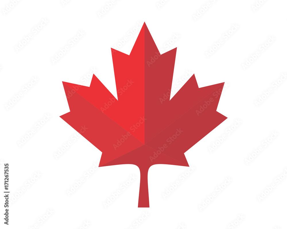czerwony Kanada liść klonu ikona wektor wyobrażenie o osobie