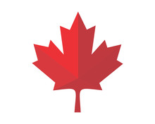 Red Canada Maple Leaf Icon Ima...