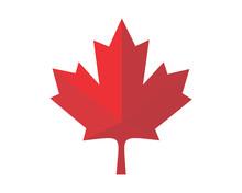 Red Canada Maple Leaf Icon Ima...