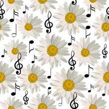 Seamless Pattern With Music No...