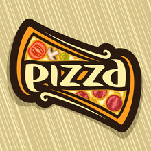 Vector Poster For Pizza: Label...