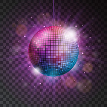 Vector Shiny Disco Ball Illust...