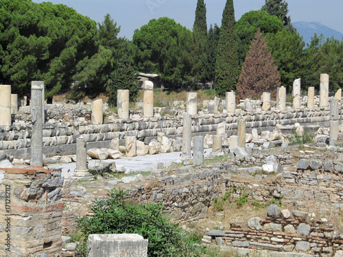 In de dag Rudnes Ruins of the ancient Greek city in Turkey