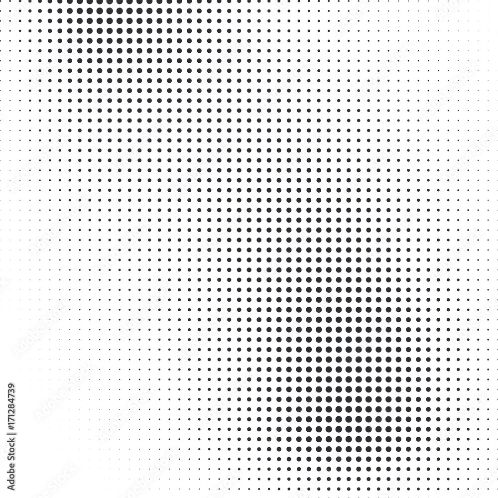 fb16f009cc53a0 Fotobehang Vector abstract dotted halftone template background. Pop ...