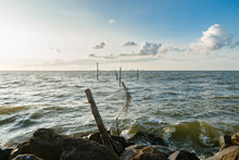 Picture Of A Fyke Or Fishing Net At The IJsselmeer Lake In The Netherlands