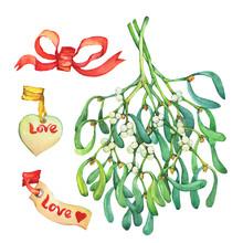 Set Mistletoe -bouquet, Inscri...