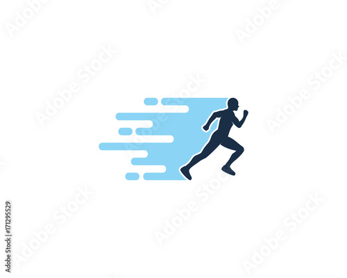 Cuadros en Lienzo Fast Run Icon Logo Design Element