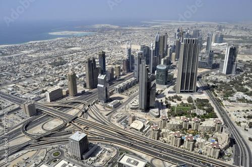 Tuinposter Aerial View of Dubai, United Arab Emirates