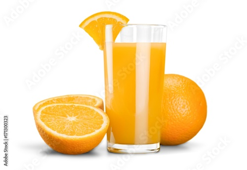 Fotobehang Sap Orange juice.