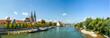 Leinwanddruck Bild - Regensburg Panorama