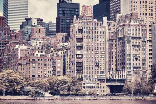 Fototapeta Rocznik stylizujący obrazek Manhattan, Miasto Nowy Jork, usa.