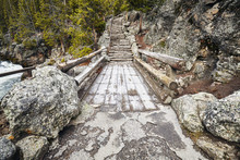 Wooden Bridge And Stone Stairs...