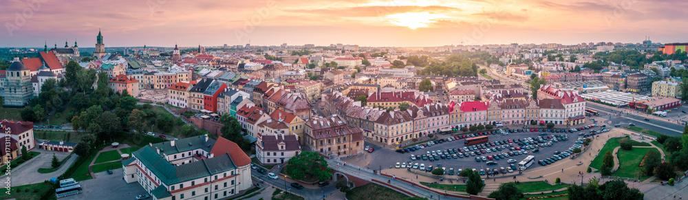 Fototapety, obrazy: Panorama Starego Miasta w Lublinie