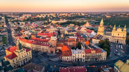 Panel Szklany Miasta Panorama Starego Miasta w Lublinie