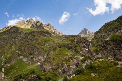 Foto op Canvas Zwart Mountains of the Caucasus