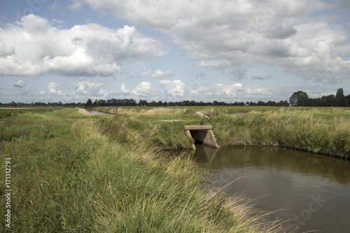 Vászonkép Culvert in a ditch