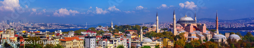 Poster Turquie Panorama of Istanbul city, Turkey