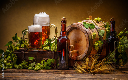 Papiers peints Biere, Cidre Still life with beer