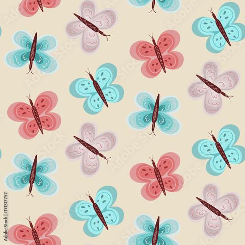 wzor-z-blekitnymi-i-rozowymi-motylami-na-jasnym-tle