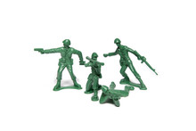 Green Plastic Toy Soldiers Iso...