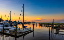 Southport Yacht Basin At Sunrise