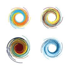 Abstract Color Tornado Vector