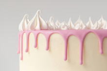 Birthday Pink Cake For Girl, D...